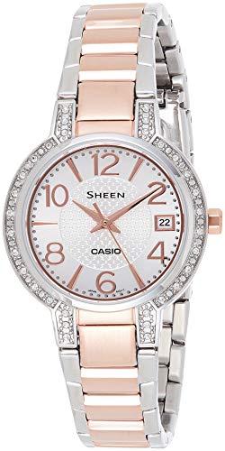 Casio Sheen Analog White Dial Women #39;s Watch   SHE 4804SG 7AUDR  SX129