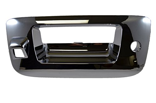 PT Auto Warehouse GM-3547M-BZC - Tailgate Handle Bezel/Trim, Chrome - with Camera Hole, with Keyhole ()
