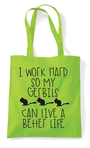 Work Can So Hard Themed Lime Tote Better A Life Shopper Funny Cute Gerbil My Bag I Animal Have XqR1dSx1w