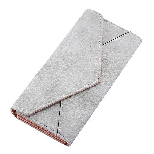 Ein langer Abschnitt der Umschlag all-Spiel ändert hand Tasche Geldbörse, Blau B Grau B