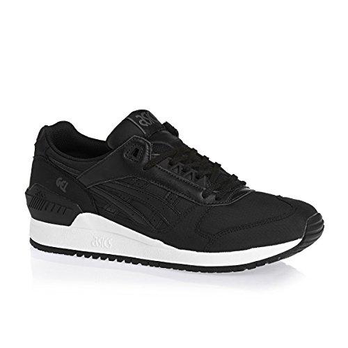 Asics Mens Gel-Respector Black White Leather Trainers 46.5 EU