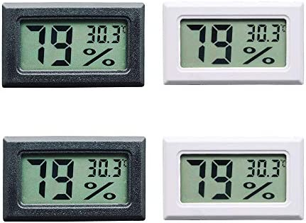 2-in-1 Thermometer Humidity Monitor Gauge Qiorange Digital Temperature Hygrometer ℃//℉ Indoor Humidity Meter with Large LCD Display