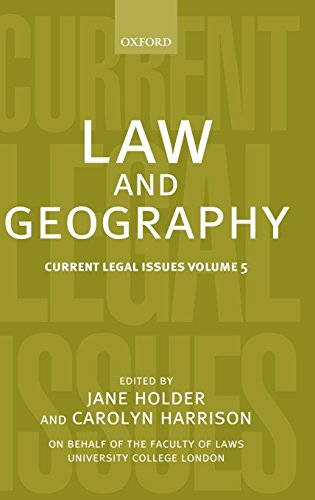 Law and Geography: Current Legal Issues 2002 Volume 5 by Oxford University Press
