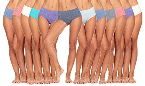 (12 Pack of Fruit of the Loom Women's Dream Flex Low-Rise Brief, Assorted, 10)
