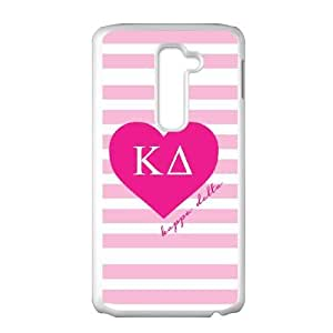 Kappa Delta Pink Stripes LG G2 Cell Phone Case White phone component RT_313122