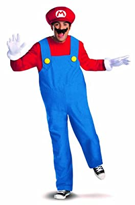 Disguise Super Mario Deluxe Mens Adult Costume