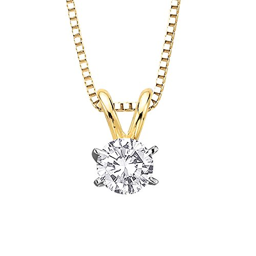 Diamond 14k Square Pendant - 9