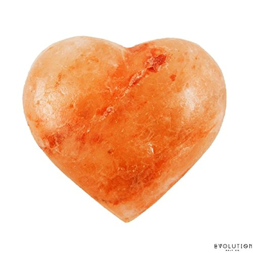 Evolution Salt - Heart Shape Massage - Cleansing Stone Himalayan Salt 6-7 oz Himalayan Crystal Salt Stones