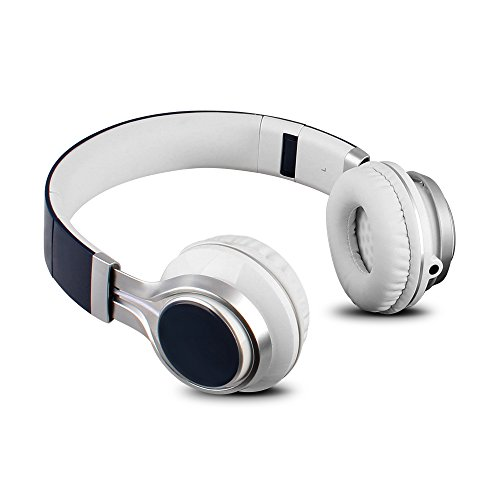 YHhao Over-Ear Headphones, On-Ear Headsets Noise Cancelling Foldable Headphones 3.5mm Detachable Cord for iPhone, iPad, Android Smartphones, PC, Laptop, Mac, Tablet (Deepblue)