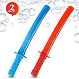 ArtCreativity Ninja Bubble Sword (Set of 2) | 14.5 Bubble Blowing Wands for Kids with Fluid Included | Great Summer Outdoor Toy/ Party Favor/ Gift Idea for Boys and Girls (Red and Blue)