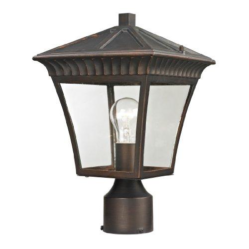 Thomas Lighting Ridgewood Post Lantern, Medium, Hazelnut Bronze Finish
