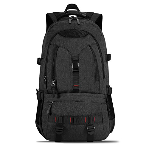 KAKA Water Resistant Laptop Backpack for 17-Inch Laptop Travel Work School College Bag (Black New)