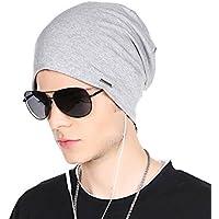 CACUSS Baggy Skull Cap Thin Cotton Stretch Beanie Summer Sprort Hat