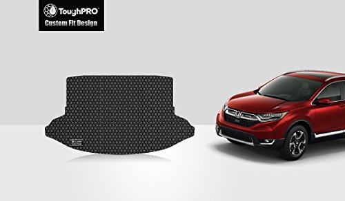 ToughPRO Cargo/Trunk Mat Compatible with Honda CR-V - All Weather - Heavy Duty - (Made in USA) - Black Rubber - 2017, 2018, 2019 ()
