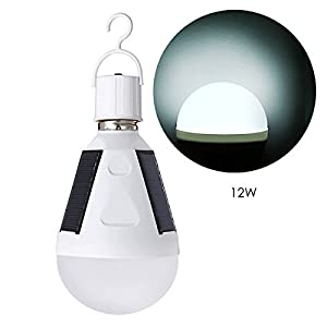 41G29GAfr6L. SS300  - Solar Powered Light LED Bulb, Oenbopo Portable Solar Power Light Bulb E27 LED Lamp Emergency Lighting for Outdoor Indoor Camping Hiking Fishing Tent - Rechargeable and IP65 Waterproof