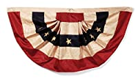 Darice Tea Stained Flag Bunting, 25 by 48-Inch