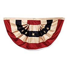 """Darice Tea Stained American Flag Bunting – Display Stars and Stripes on Holidays or All Year Long - Easy to Hang - Durable, Holds Up to Weather - Indoor or Outdoor Use – 48""""x25"""", Polyester (1 Piece)"""