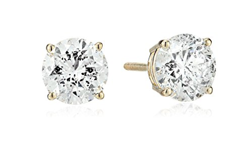 14k-Yellow-Gold-Round-Cut-Diamond-Screw-Back-and-Post-Stud-Earrings-2cttw-H-I-Color-I2-Clarity