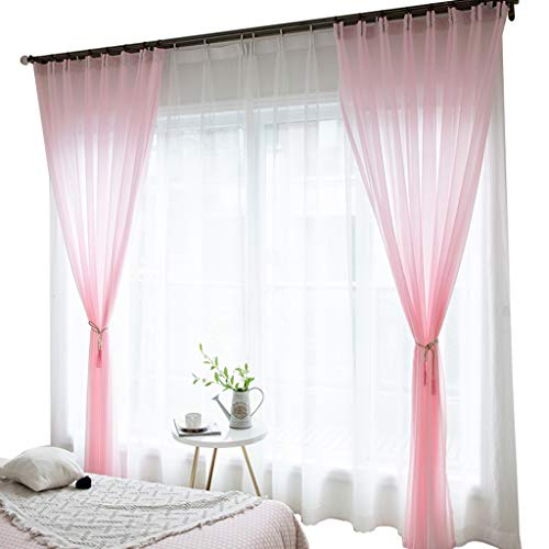 Thermal W300 (YXNZ Pink Curtains - Bedroom Decorating with Hook Top for Room Darkening Short Thermal Insulated Window Treatment Energy Saving, 1 Panel High 270CM (Color : Pink, Size : W300 X H270CM))