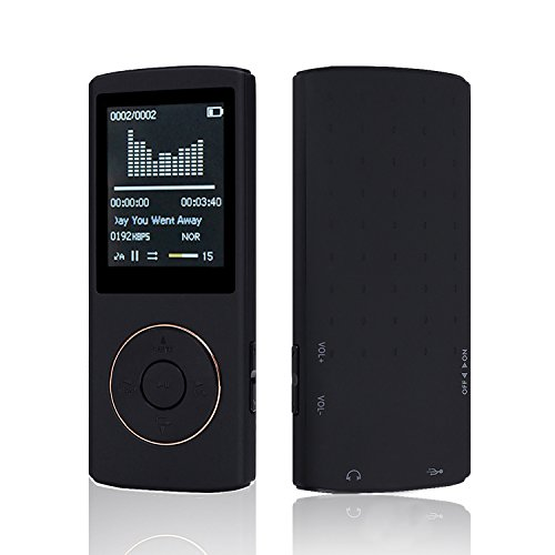 HccToo Music Player 16GB Portable Lossless Sound MP3 Player 45 Hours...