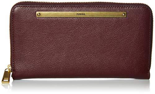 Fossil Women's Liza Leather Clutch Wallet, Fig