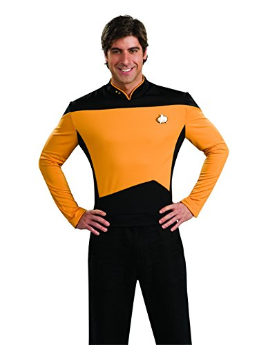 Star Trek Men's Next Generation Deluxe Gold Shirt -