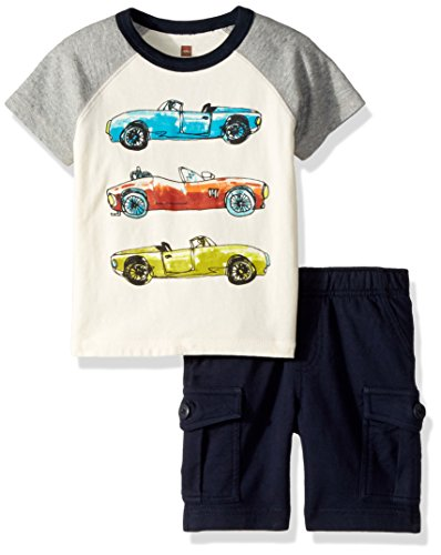 Tea Collection Baby Boys' Fast Car Set, Multi, 12-18 (Clothes Tea Collection)