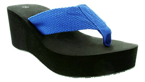 Gino 4-Womens Black Light Weight Flip Flop Sandal With Thick Strap