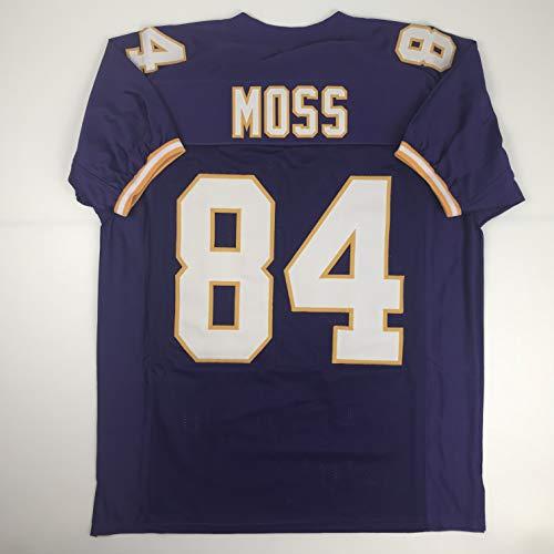 (Unsigned Randy Moss Minnesota Purple Custom Stitched Football Jersey Size Men's XL New No Brands/Logos)