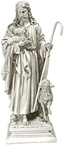 Design Toscano Jesus the Good Shepherd Religious Garden Statue