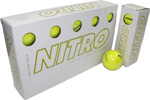 Nitro White Out Golf Ball (15-Pack), Yellow