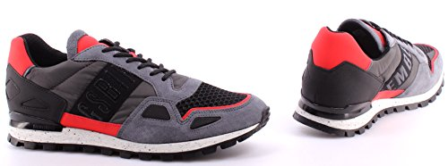 Bikkembergs - Zapatillas de Piel para hombre gris gris Antracita