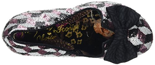 Irregular Choice Damen Nick of Time Pumps schwarz (Black/Rosa Metallic)