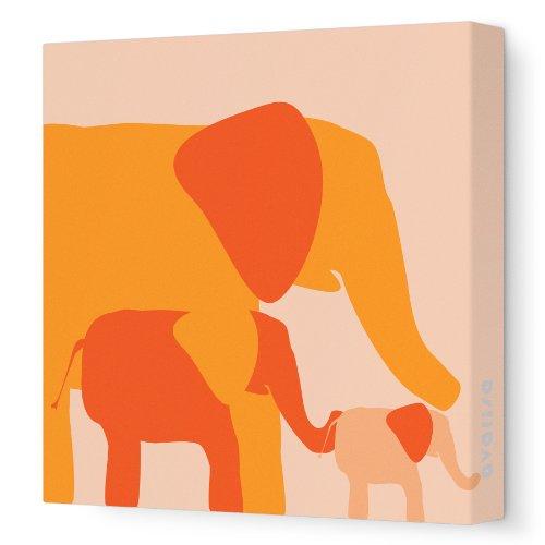 Avalisa Stretched Canvas Nursery Elephant product image
