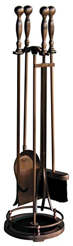 Uniflame, F-1372, 5pc Satin Copper Fireset with Ball Handles