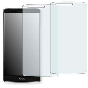 2x Golebo Semi-Matt protectores de pantalla para LG Flex 2 - (efecto antirreflectante, montaje muy fácil, removible sin residuos) (Intencionadamente es más pequeña que la pantalla ya que esta es curva)