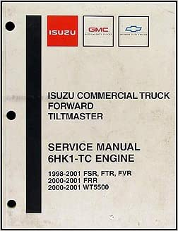 1998-2004 Isuzu 6HK1-TC Diesel Engine Repair Shop Manual FSR