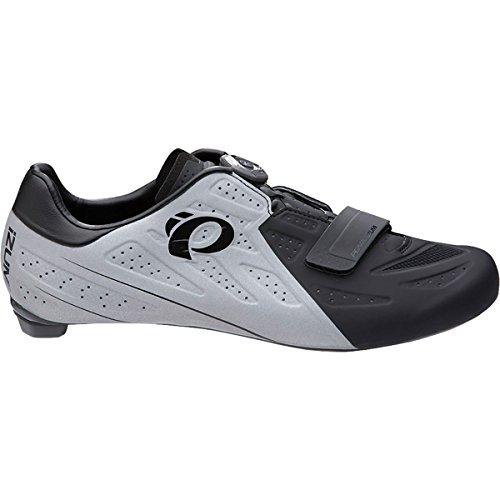 耐えられないプラスチック排出(パールイズミ) Pearl Izumi ELITE Road V5 Cycling Shoe メンズ ロードバイクシューズBlack/Silver Reflective [並行輸入品]