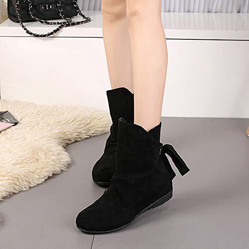 Noires Taille Daim Noir Hiver Plates Boots Bottines Femme Bottes En Grande overdose Casual WTY6ZwUF