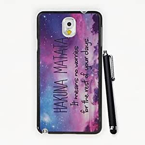 YULIN No Worries in Your Days Pattern PC Hard Case with A Stylus Pen for Samsung Galaxy Note3 N9000