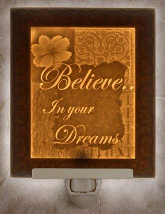 Believe Flat Porcelain Lithophane (Believe Porcelain)