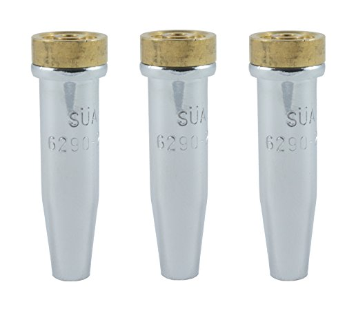- (3 PACK) SÜA - 6290-NX Series Propane Cutting Tip - Compatible with Harris. Sizes: 00, 0 and 1