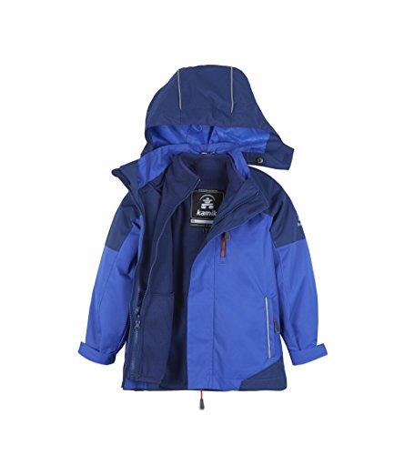 Kamik Winter Apparel Boys Dex Systems 3/1 Jacket, Royal/Navy, - Boys Jacket System