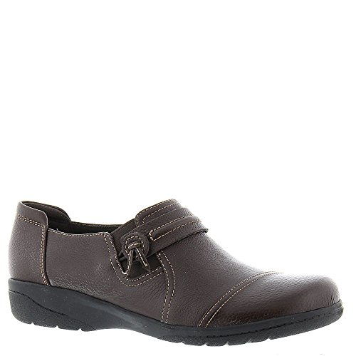Brown Madi Cheyn Leather Dark Clarks Slip Women's Ons 5wYEfEqxR