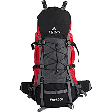 TETON Sports Fox 5200 Internal Frame Backpack, Red