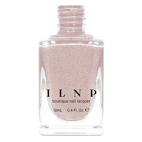ILNP Birthday Suit - Cashmere Pink Holographic Nail Polish, Neutral Nude, Chip Resistant Manicure, Non-Toxic, Vegan, Cruelty Free, 12ml
