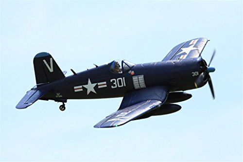 FMS F4U Corsair V3 RC Airplane 6CH 1400mm (55.2″) Wingspan Blue with Flaps LED Retracts PNP Warbird