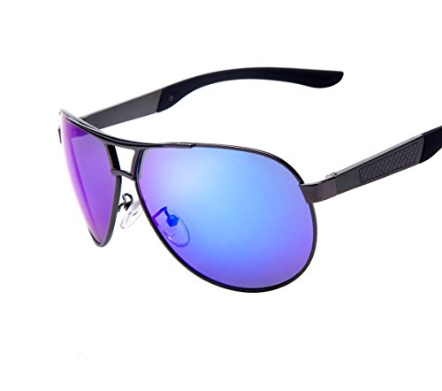 MS sunglasses Classic Aviator Fashion Men's UV400 Polarized coating Driving Mirrors ()