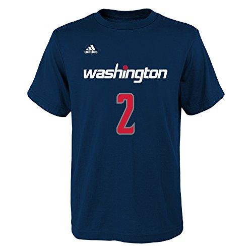 John Wall Washington Wizards #2 NBA Youth Player Name & Number T-Shirt, Navy, Youth Small 8'