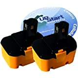 2-Pack Ryobi 14.4V Battery Replacement - Compatible with Ryobi 130224010, RY6200, 1314702, 1400144, 1400656, 1400671, HP1442M, FL1400, HP1441M, 130224011, 130281002, 1400655, 4400011, CTH1442, CTH1442K2, HP1441 (1300mAh, NICD)